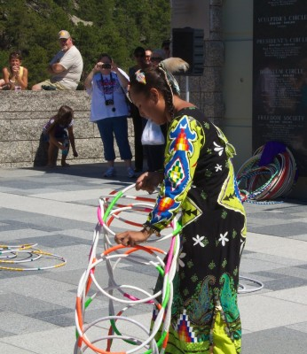 Mount Rushmore Jasmine Pickner hoop dance 1 July 2011 (1)