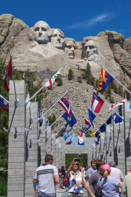 Mount Rushmore with flags walkway July 2011 (1)