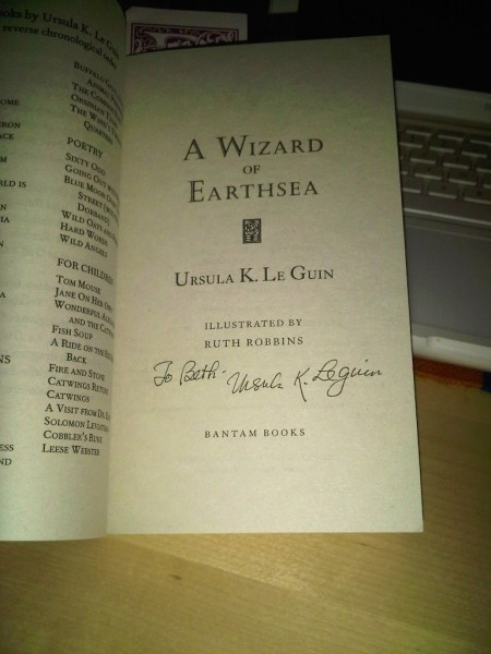 signed copies, Ursula K. Le Guin