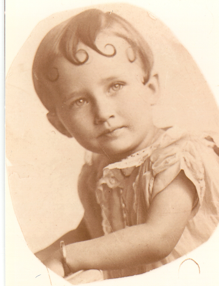 Beverly Jean Lash Partin as a child