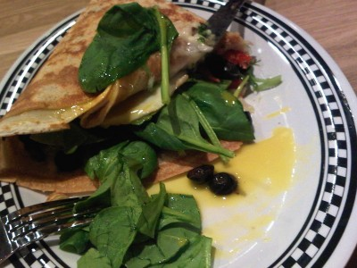Super Spinach crepe, Mr. Crepe, French restaurants