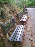 Fort Tryon Park benches NYC Oct 2012