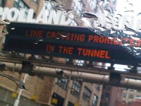 Holland Tunnel leaving NYC Oct 2012
