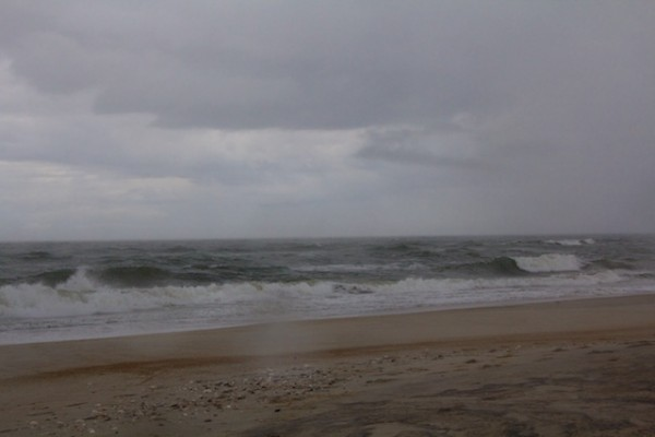 Sandy with raindrops on lens, Outer Banks, NC Oct 2012