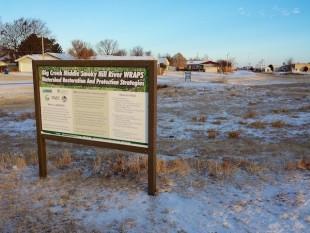 WRAPS signs behind Days Inn, Hays, KS 2