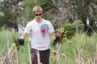 Weeding and collecting trash at Bear Creek Park, Denver, 2013, IMG_1659