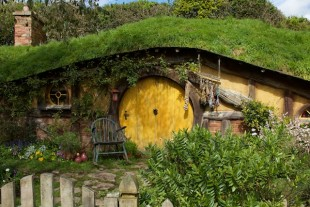 There are hobbit houses of all sizes.