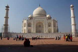 Taj Mahal from the guesthouse side Agra Dec 2015